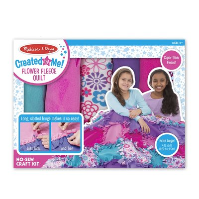 MELISSA AND DOUG CREATED BY ME FLOWER FLEECE QUILT