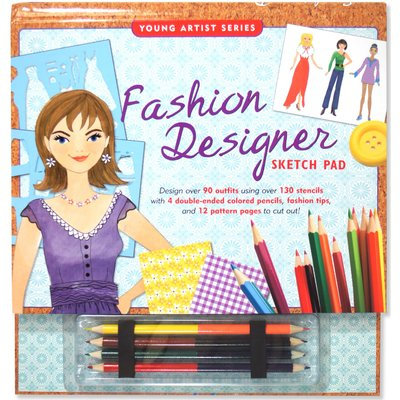 PETER PAUPER YOUNG ARTIST SERIES FASHION DESIGNER SKETCH PAD