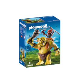 PLAYMOBIL GIANT TROLL WITH DWARF FIGHTER PLAYMOBIL*