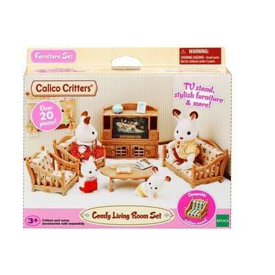 COMFY LIVING ROOM SET CALICO CRITTERS