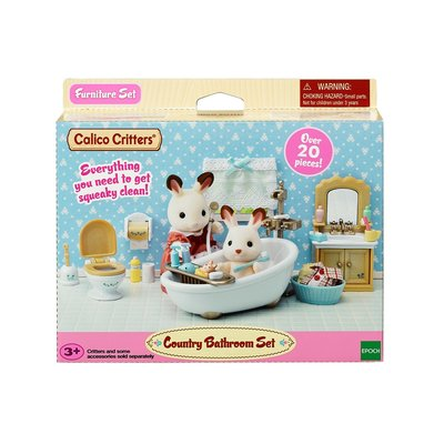 CALICO CRITTERS COUNTRY BATHROOM SET CALICO CRITTERS