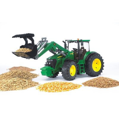 BRUDER TOYS AMERICA JOHN DEERE TRACTOR WITH FRONT LOADER