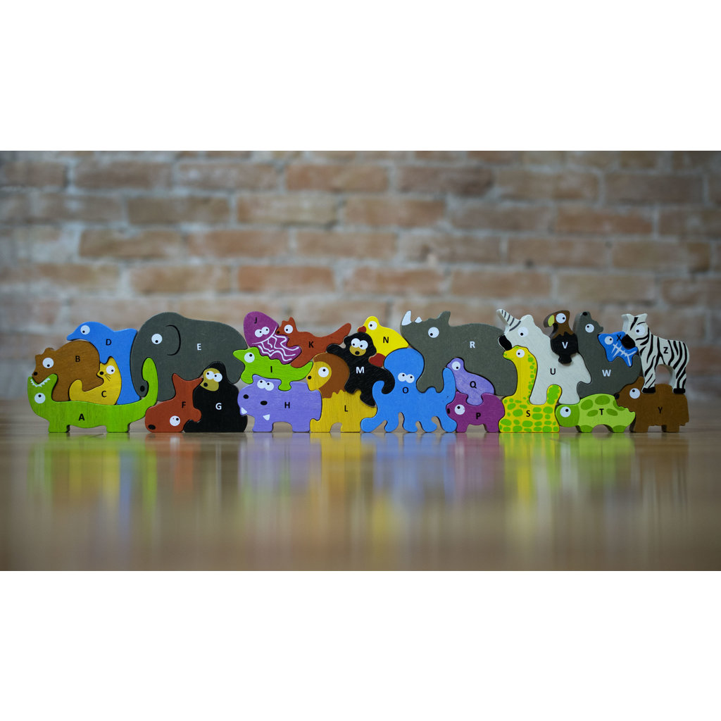 BEGIN AGAIN ANIMAL PARADE A TO Z PUZZLE & PLAYSET