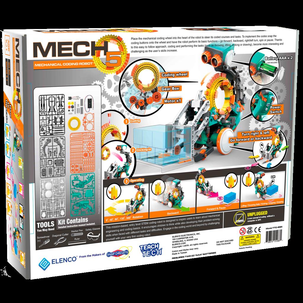 ELENCO ELECTRONICS MECH 5 MECHANICAL CODING ROBOT