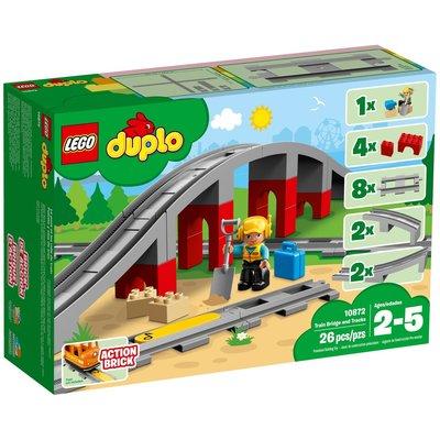 LEGO TRAIN BRIDGE AND TRACKS