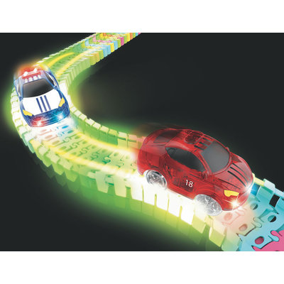 NEON GLOW TWISTER TRACKS MICRO RACE