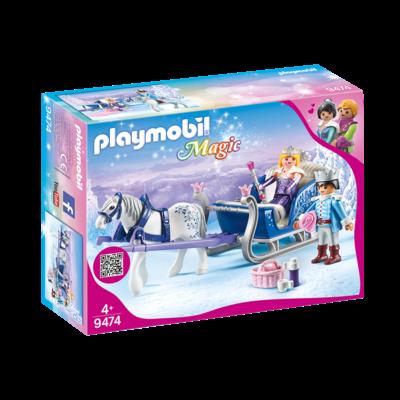 PLAYMOBIL CRYSTAL PALACE SLEIGH WITH ROYAL COUPLE