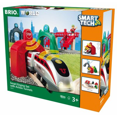 BRIO BRIO SMART TECH ENGINE SET WITH TUNNELS