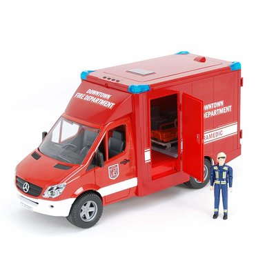 BRUDER TOYS AMERICA MB SPRINTER FIRE DEPARTMENT PARAMEDIC WITH DRIVER