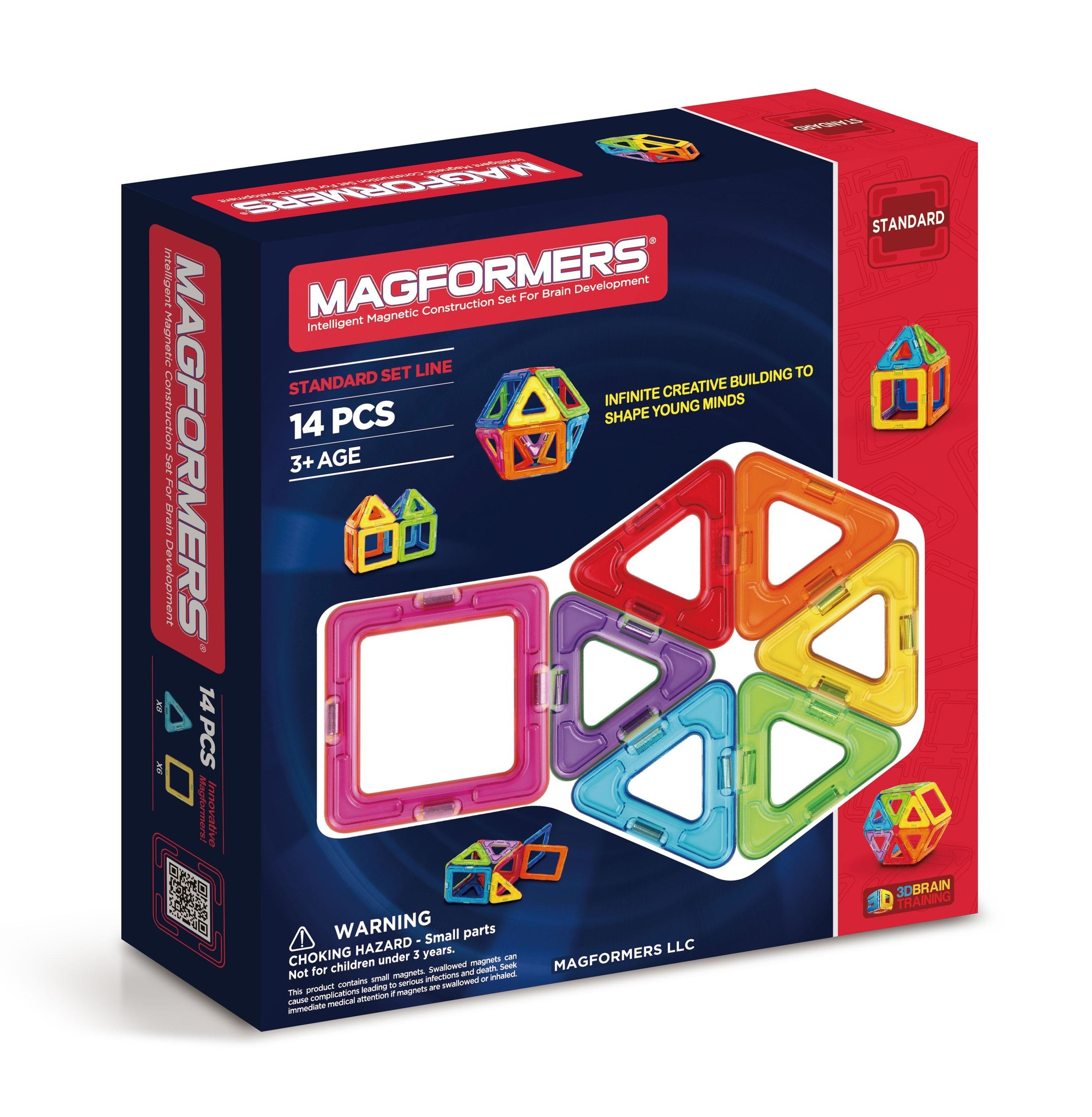 Magformers Basic Plus 14PC Magnetic Construction Set STEAM Toy Ages 3 Years+