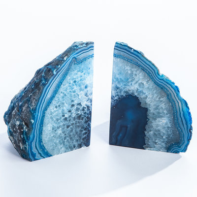GEO CENTRAL AGATE BOOKENDS
