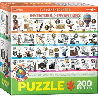 EUROGRAPHICS INVENTORS AND THEIR INVENTIONS 200 PC PUZZLE