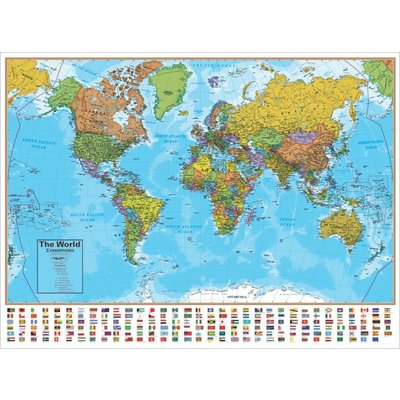 ROUND WORLD PRODUCTS WORLD WALL MAP
