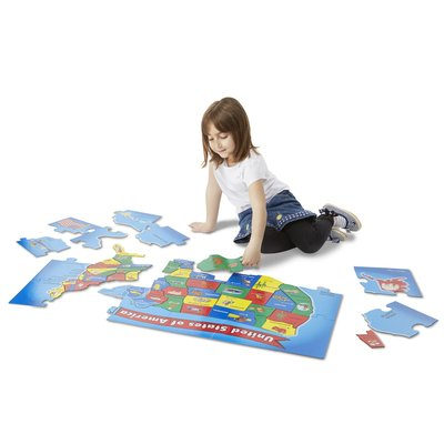 MELISSA AND DOUG USA MAP FLOOR PUZZLE 51 PCS