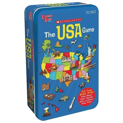 UNIVERSITY GAMES SCHOLASTIC THE USA GAME