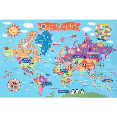 ROUND WORLD PRODUCTS KIDS WORLD WALL MAP