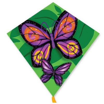 "PREMIER KITE BUTTERFLIES 25"" DIAMOND KITE"