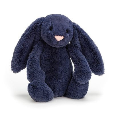 JELLY CAT MEDIUM BASHFUL BUNNY NAVY