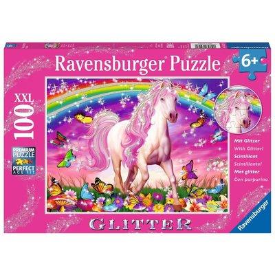 RAVENSBURGER USA HORSE DREAM 100 PC GLITTER PUZZLE