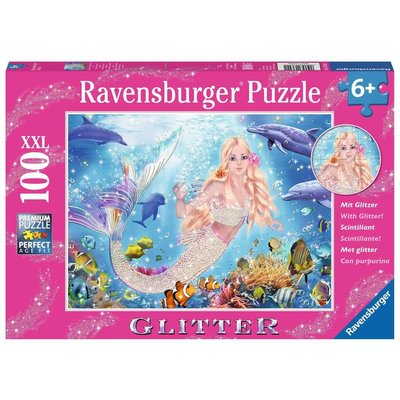 RAVENSBURGER USA MERMAID & DOLPHINS 100 PIECE
