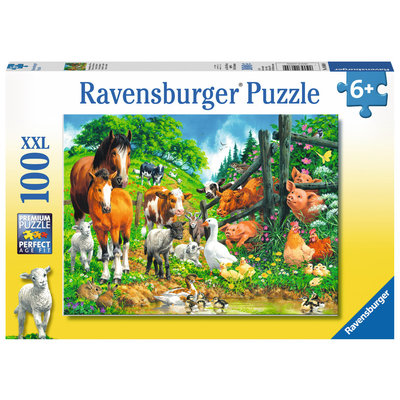RAVENSBURGER USA ANIMAL GET TOGETHER 100 PC PUZZLE