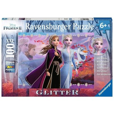 RAVENSBURGER USA FROZEN 2: STRONG SISTERS 100 PC GLITTER PUZZLE