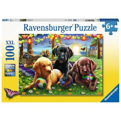 RAVENSBURGER USA PUPPY PICNIC 100 PC PUZZLE