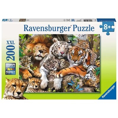 RAVENSBURGER USA BIG CAT NAP 200 PC PUZZLE