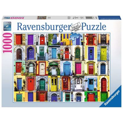 RAVENSBURGER USA DOORS OF THE WORLD 1000 PC PUZZLE
