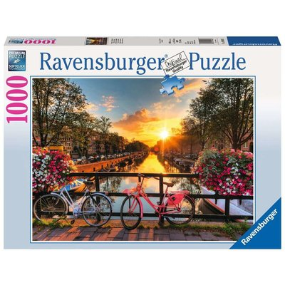 RAVENSBURGER USA BICYCLES IN AMSTERDAM 1000 PC PUZZLE