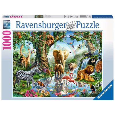RAVENSBURGER USA ADVENTURES IN THE JUNGLE 1000 PIECE