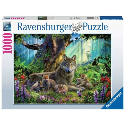 RAVENSBURGER USA WOLVES IN THE FOREST 1000 PC PUZZLE