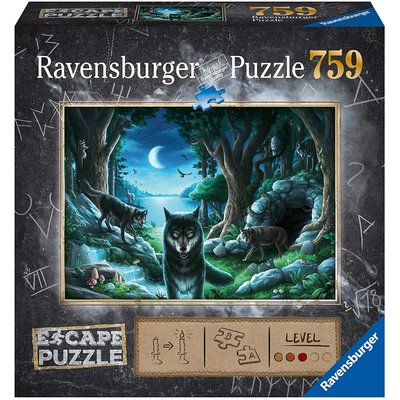 RAVENSBURGER USA CURSE OF THE WOLVES ESCAPE 759 PC PUZZLE