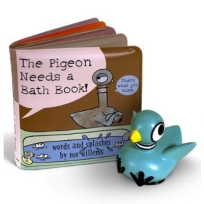 DISNEY HYPERION PIGEON NEEDS A BATH BOOK W/ BATH TOY BB WILLEMS