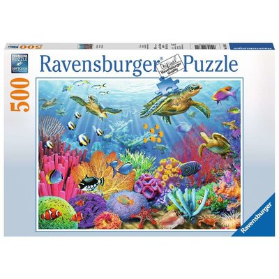 RAVENSBURGER USA TROPICAL WATERS 500 PC PUZZLE
