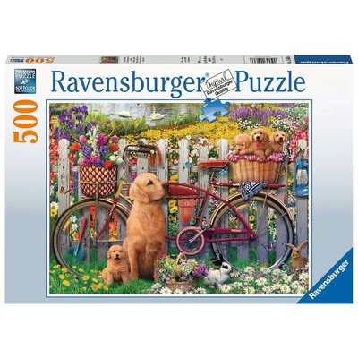 RAVENSBURGER USA CUTE DOGS 500 PC PUZZLE