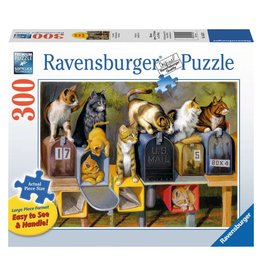 RAVENSBURGER USA CATS GOT MAIL 300 PC PUZZLE