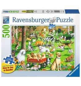 RAVENSBURGER USA AT THE DOG PARK 500 PC PUZZLE