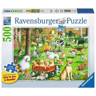RAVENSBURGER USA AT THE DOG PARK 500 PC PUZZLE