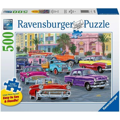 RAVENSBURGER USA CRUISIN' 500 PC PUZZLE