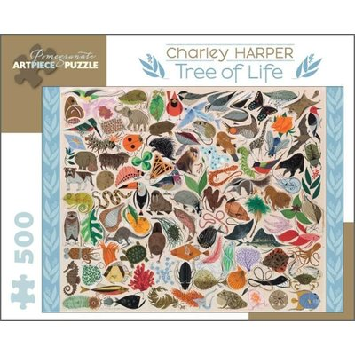 POMEGRANATE CHARLEY HARPER TREE OF LIFE 500 PC PUZZLE