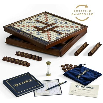 SCRABBLE DELUXE WITH ROTATING BASE