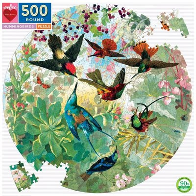 EEBOO HUMMINGBIRDS 500 PC PUZZLE