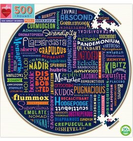 EEBOO 100 GREAT WORDS 500 PC PUZZLE