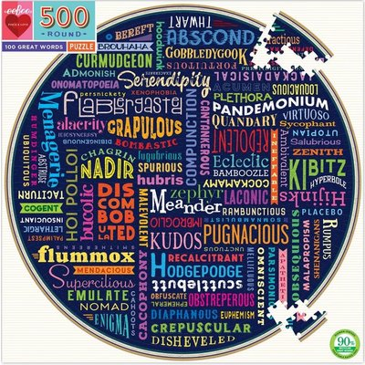 EEBOO 100 GREAT WORDS 500 PIECE