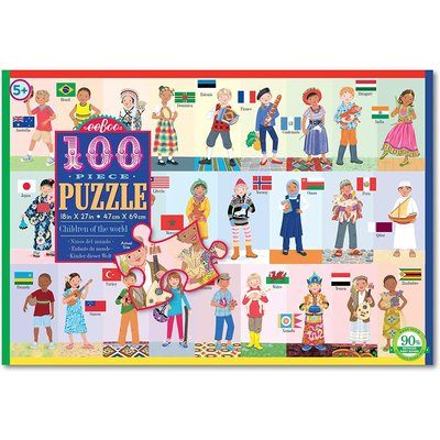 EEBOO CHILDREN OF THE WORLD 100 PC PUZZLE