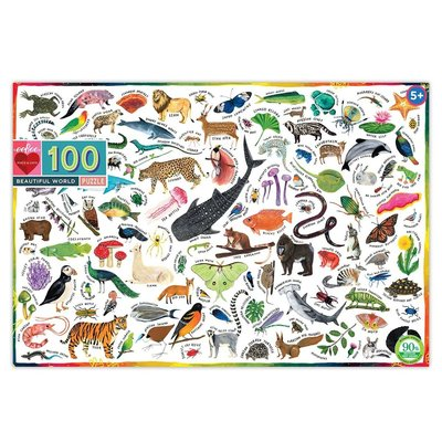 EEBOO BEAUTIFUL WORLD 100 PC PUZZLE