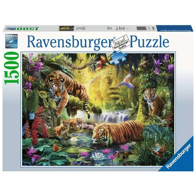 RAVENSBURGER USA TRANQUIL TIGERS 1500 PC PUZZLE