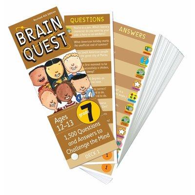 WORKMAN PUBLISHING BRAIN QUEST CARDS GRADE 7