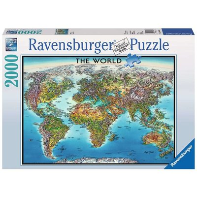 RAVENSBURGER USA WORLD MAP 2000 PIECE